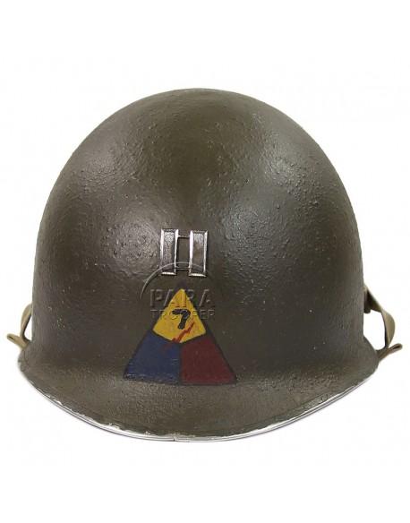 Casque USM1 Capitaine, 7th Armored, ETO