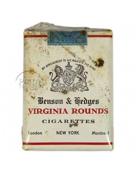 Cigarettes, Virginia Rounds, pack, 1940