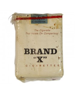 Cigarettes, Brand X, pack