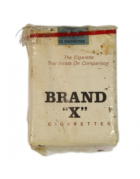 Cigarettes, Brand X, pack