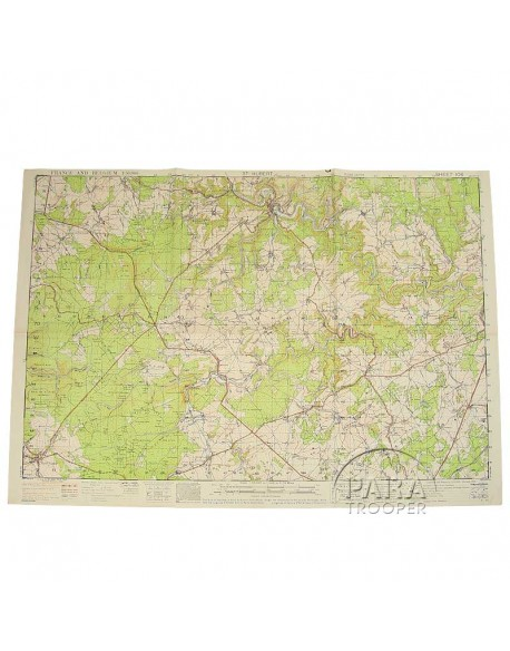 Map, US Army, St Hubert (Belgium), 101st ABN, 1943