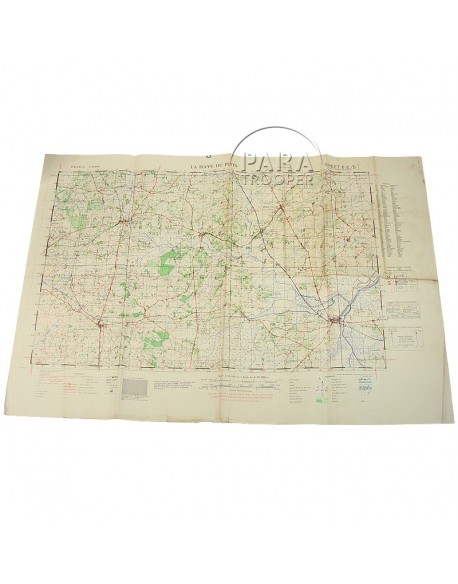 Map, US Army, La-Haye-du-Puits, Normandy, 1943