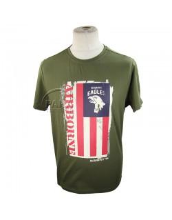 T-shirt, 101st AB, Flag