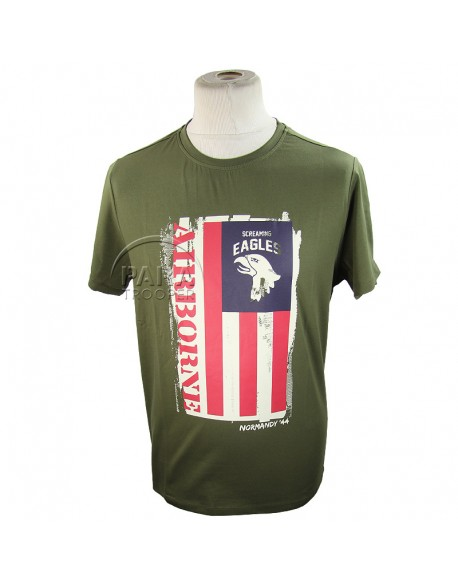 T-shirt, 101st AB, Flag
