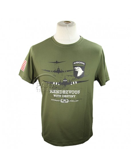 T-shirt, 101st AB, Rendezvous with Destiny