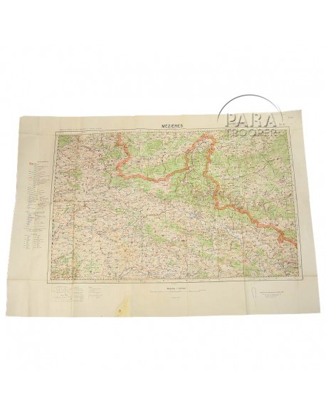 Map, German, Mézières, 1936