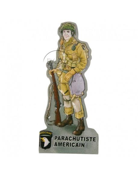 Magnet, American paratrooper, resin
