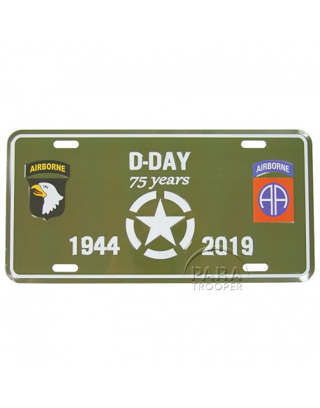 75th D-Day anniversary, Airborne, vehicle plaque