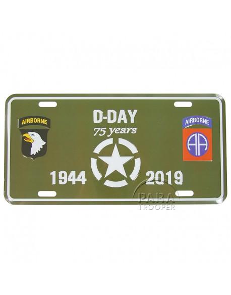 Plaque de véhicule 75e Anniversaire, Airborne