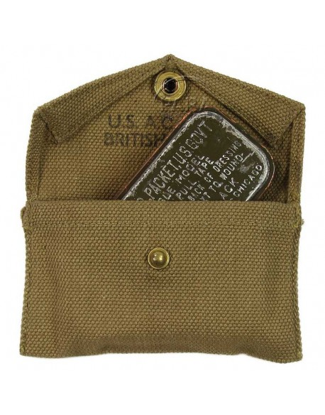Pouch, First aid, with first aid, British Made, 1944