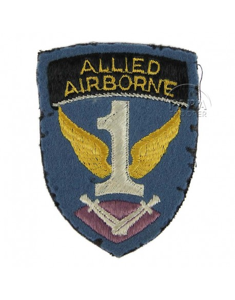Insigne First Allied Airborne, feutre