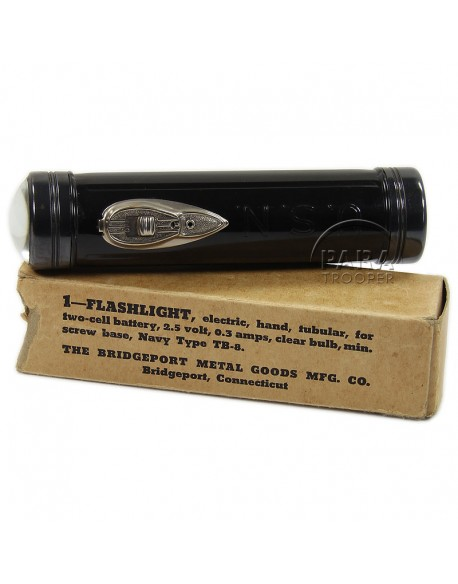 Flashlight, USN, The Bridgeport Metal Goods MFG. Co.