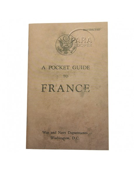 Livret Pocket Guide to France