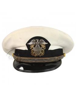 Casquette, Officier, USN, blanche, Bancroft Military Caps