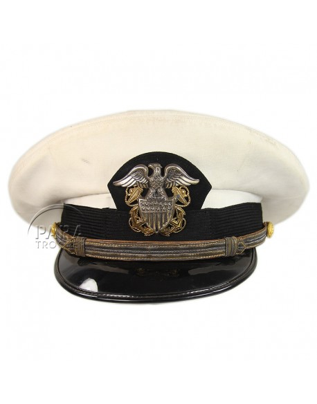 Cap, Officier, USN, White, Bancroft Military Caps