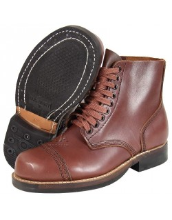 Shoes, Combat, Russet leather