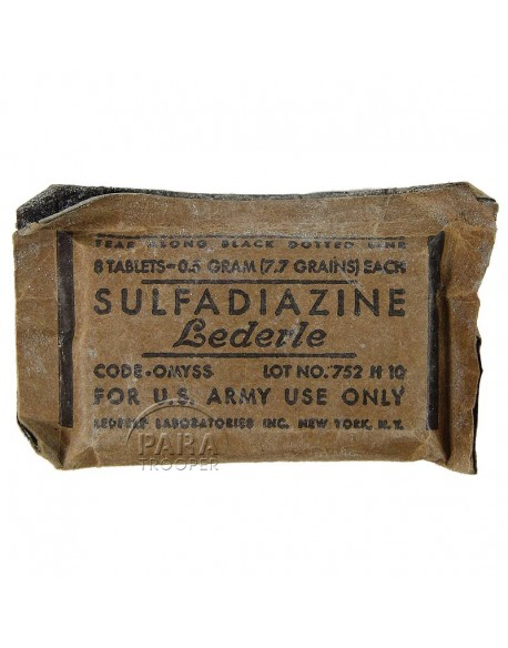 Paquet de sulfadiazine, Lederle