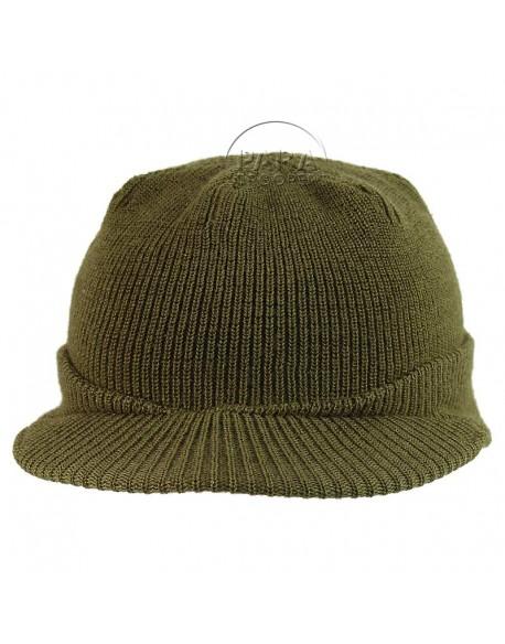 """Cap, Wool knit """"Beanie"""", Jeep Cap, Medium"""