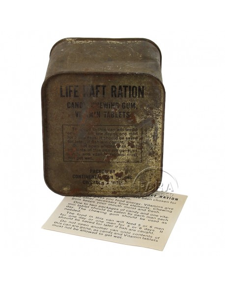 Boite de ration, Life Raft, Continental Can Co., Inc.