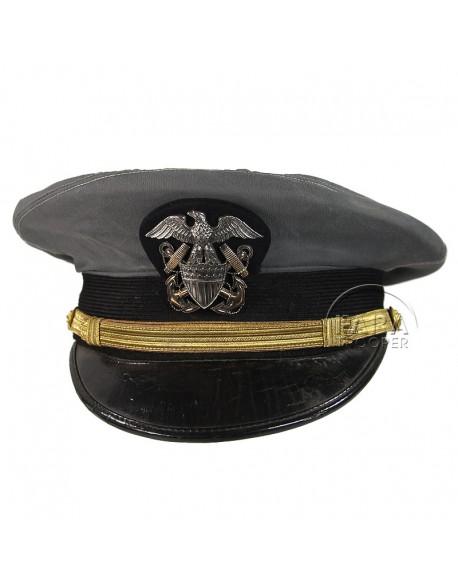 Casquette, Officier, USN, grise, Dobbs