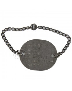 Bracelet with Dog Tag, US Navy