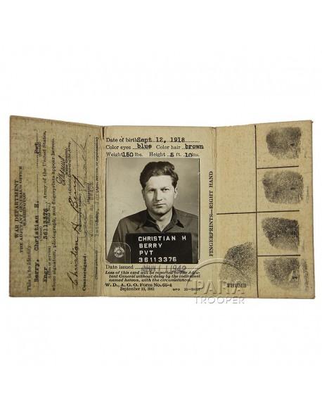 Carte d'identité, 1er type