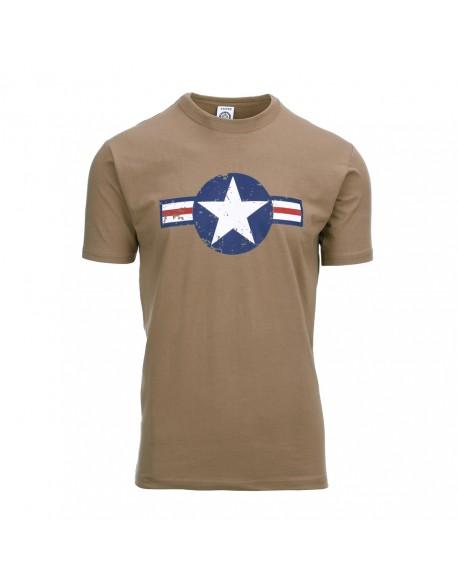 T-shirt vintage USAAF, Coyote