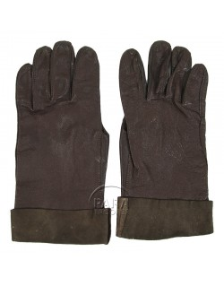 Gloves, Leather, Type B-3A, AAF, brown