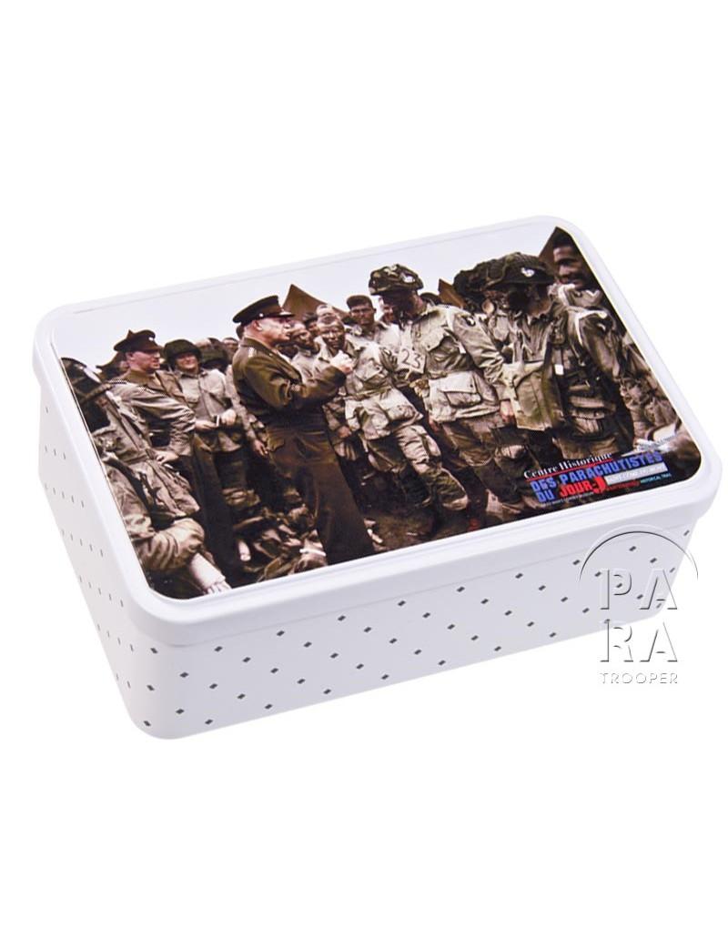 boite biscuits eisenhower paratrooper. Black Bedroom Furniture Sets. Home Design Ideas