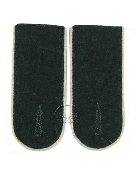 Shoulder boards infantry, troop (White Piped)