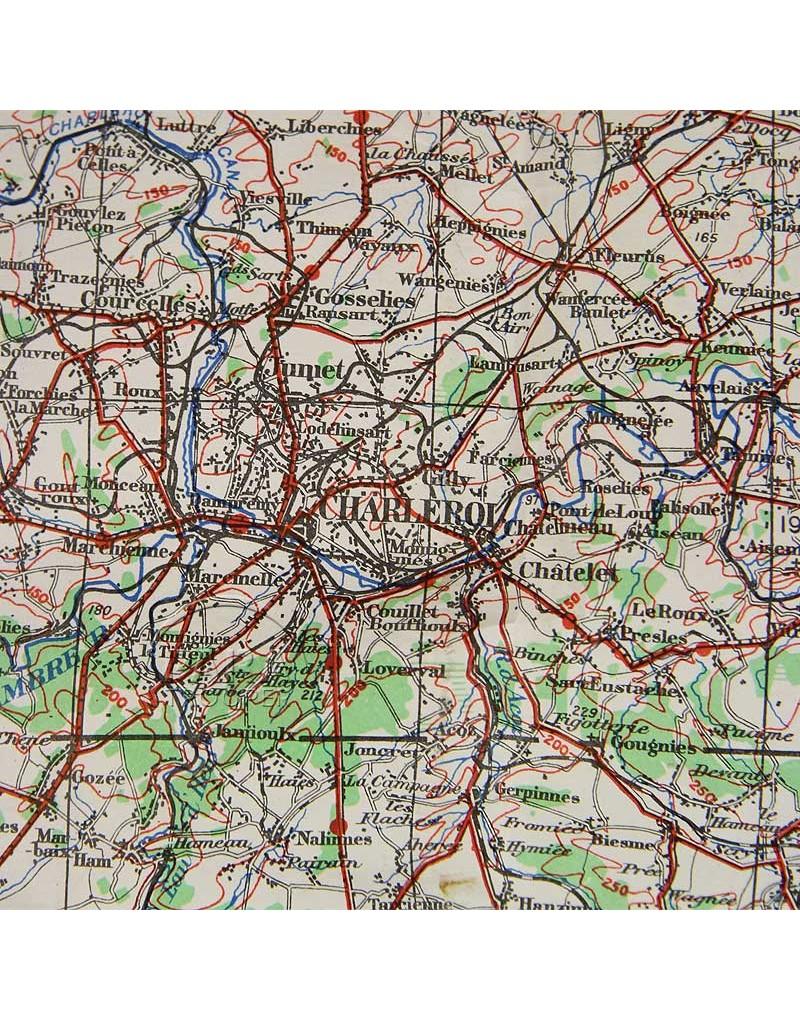 Map, US Army, Namur-Luxembourg (Belgium), 1943