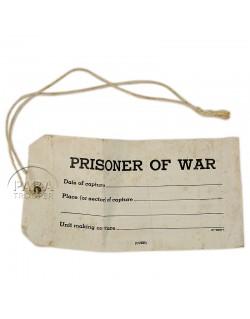 Etiquette de prisonnier de guerre, 1942