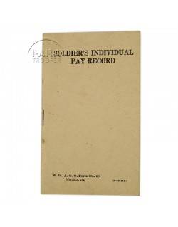 Soldier's individual pay record, 1942