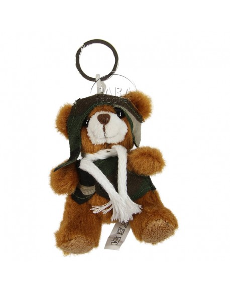 Key-ring, teddy bear, pilote, camouflaged