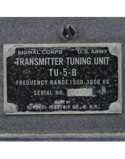 Transmitter Tuning TU-5-B, USAAF