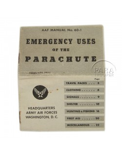 Manual, AAF, Emergency uses of the Parachute