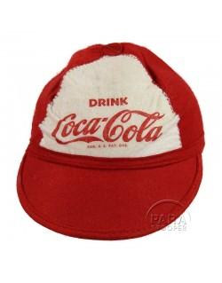 Cap, felt, Coca-Cola