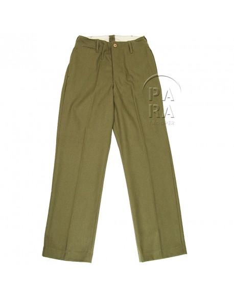 Trousers, Wool, Mustard