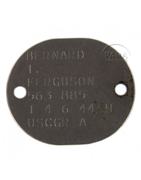 Dog tag, USCG, 1944