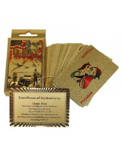 Cards, Playing, Vintage D-Day, Gold plated