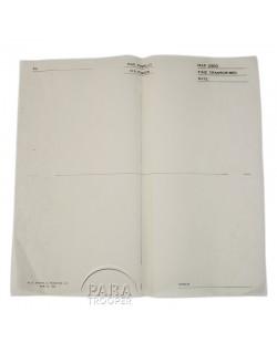 Overlay, Blank map, Pigeon, 1943