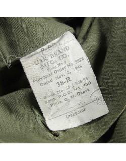 Veste HBT, 38R, 1943