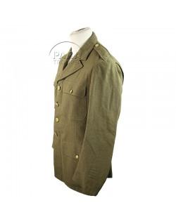 Coat, Wool, Serge, OD, 40 L, Named