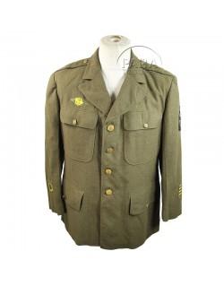 Coat, Wool, Serge, OD, 44 S, Named