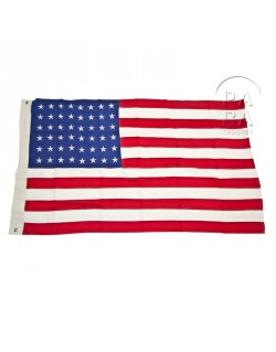 Flag, US, 48 stars, cotton