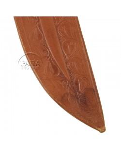 Machete, M-1942, leather scabbard