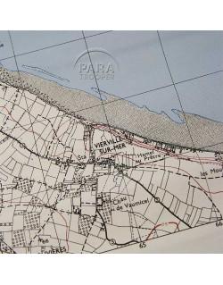Map, Pointe du Hoc, 1944, Rangers, D-Day