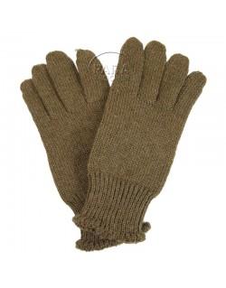 Gloves, Wool, OD