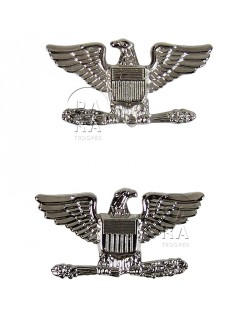 Colonel rank insignia, pair