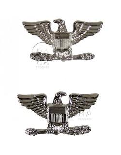 Paire de grades en métal de Colonel